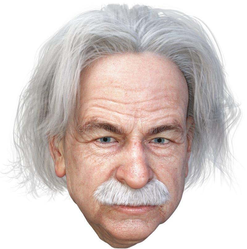 El científico de Einstein, ciencia, genio, aisló ilustración del vector