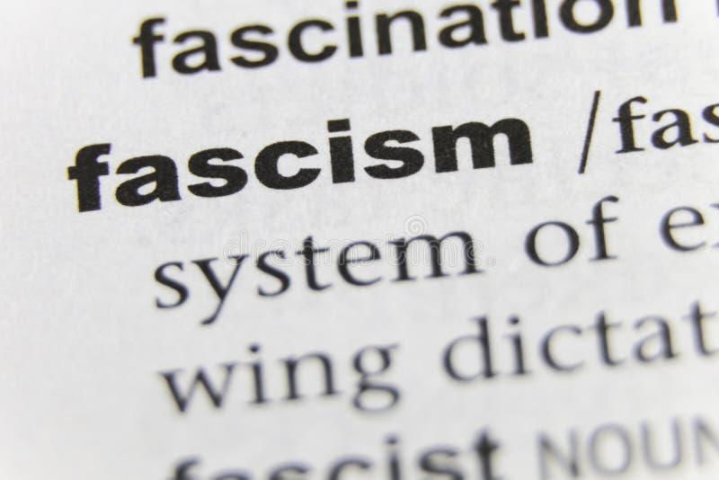 El cierre del fascismo de la palabra para arriba imágenes de archivo libres de regalías
