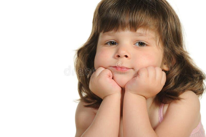 El cierre encantador de la niña para arriba imagenes de archivo
