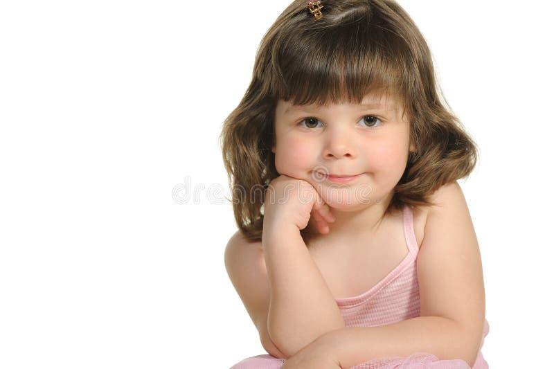El cierre encantador de la niña para arriba foto de archivo