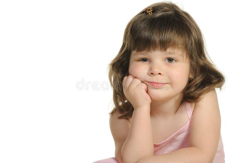El cierre encantador de la niña para arriba imagen de archivo libre de regalías