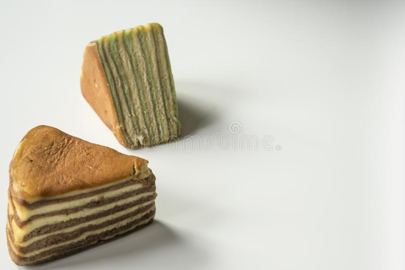 El cierre encima de la torta acodada multi llamó 'legit del lapislázuli 'o el 'spekkoek 'de Indonesia foto de archivo libre de regalías