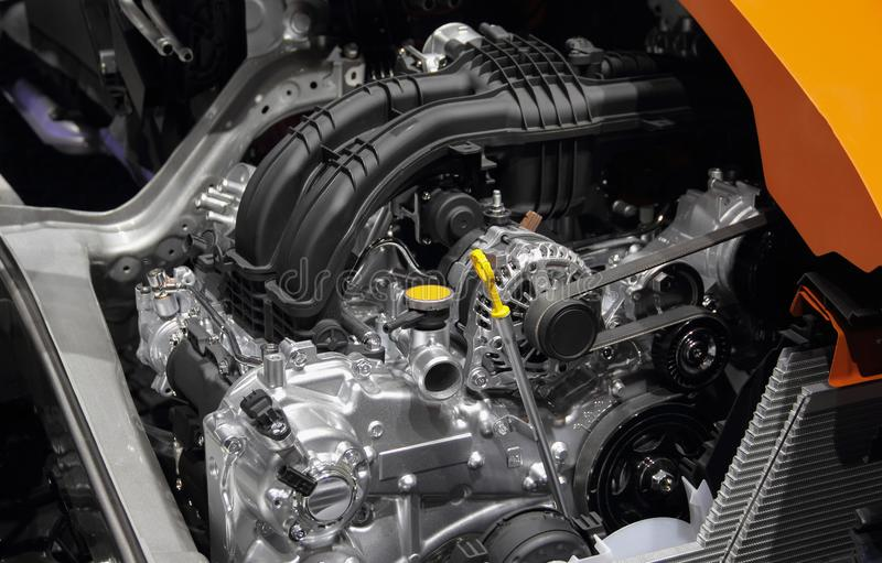 El cierre para arriba del motor de coche, piezas del motor de coche foto de archivo libre de regalías
