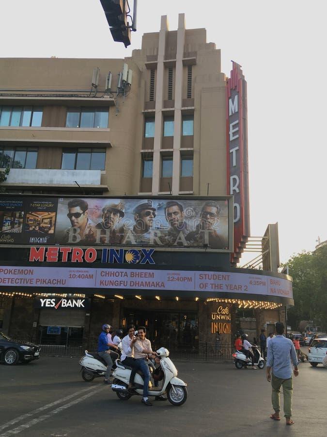 El cine del metro es Art Deco Heritage Movie que el teatro en Bombay construy? en 1938 foto de archivo