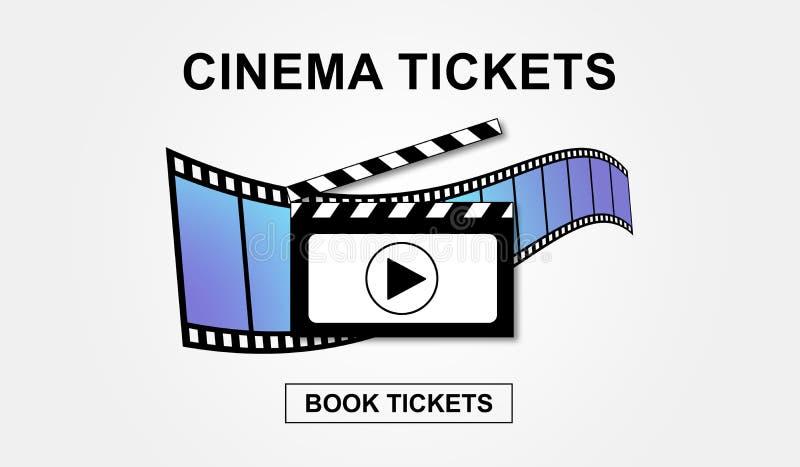 El cine en línea marca concepto de la reservación stock de ilustración