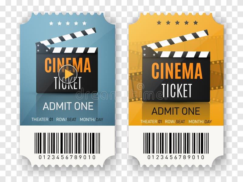 El cine marca el fondo Ejemplo del cartel de película del vector stock de ilustración