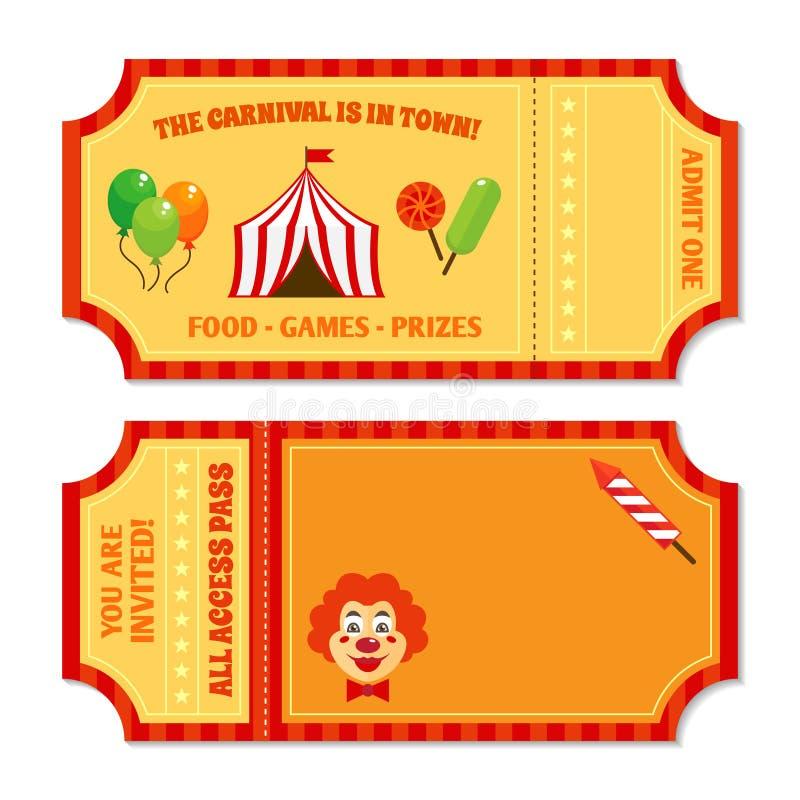 El circo marca la plantilla ilustración del vector