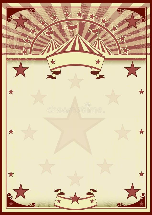 El circo protagoniza el cartel del vintage stock de ilustración