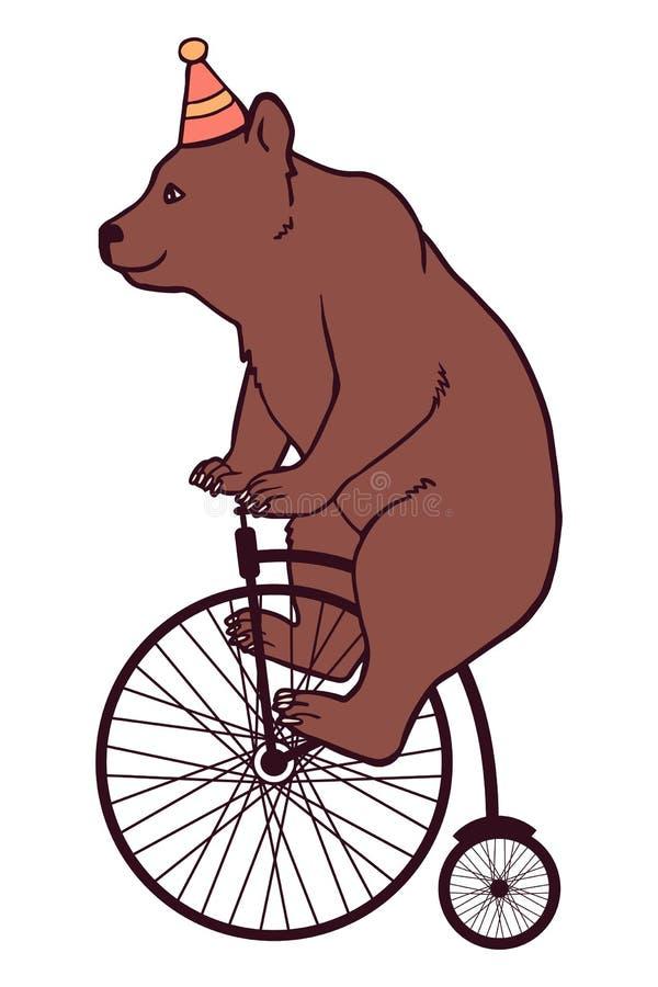 El circo refiere la bicicleta ilustración del vector