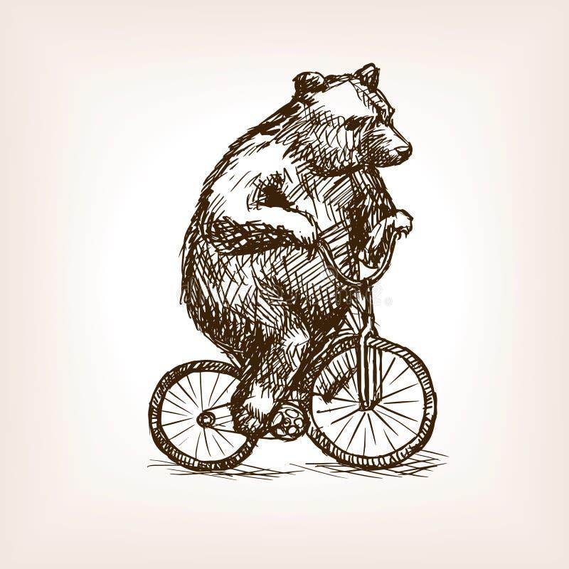 El circo refiere vector dibujado mano del bosquejo de la bicicleta ilustración del vector