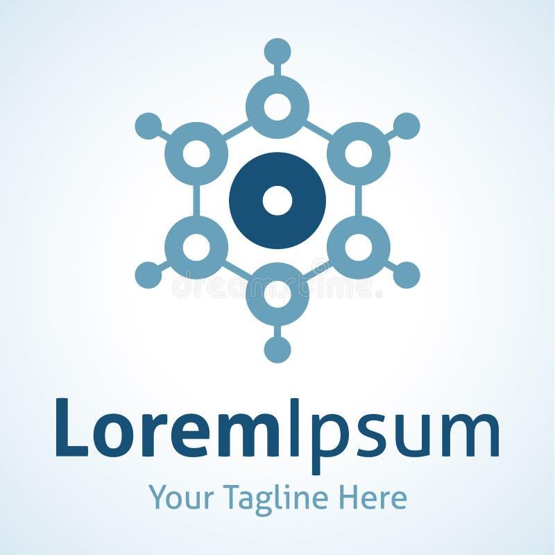 El circuito futurista abstracto del punto de la tecnología integra el icono del logotipo ilustración del vector