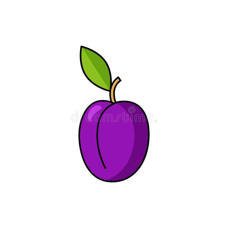 El ciruelo poda vector del icono ilustración del vector