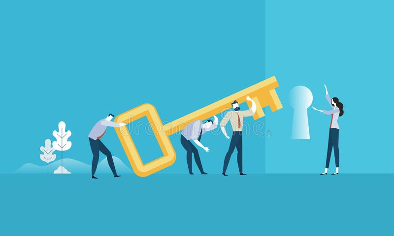 El clave al éxito stock de ilustración