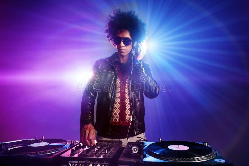 El club nocturno DJ party fotos de archivo