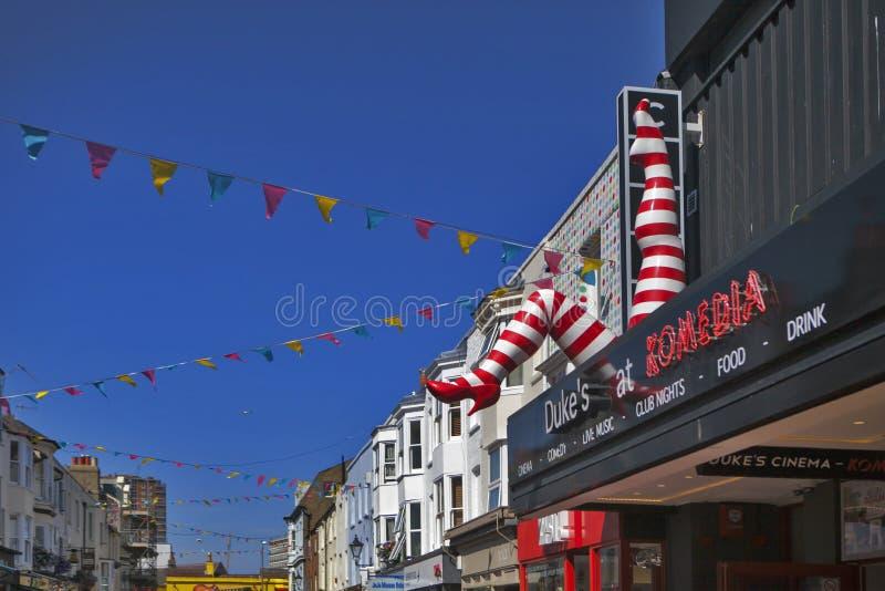 El club y la barra de Komedia que incorporan el cine de la casa de imagen del ` s del duque en el distrito del norte Brighton de  imágenes de archivo libres de regalías