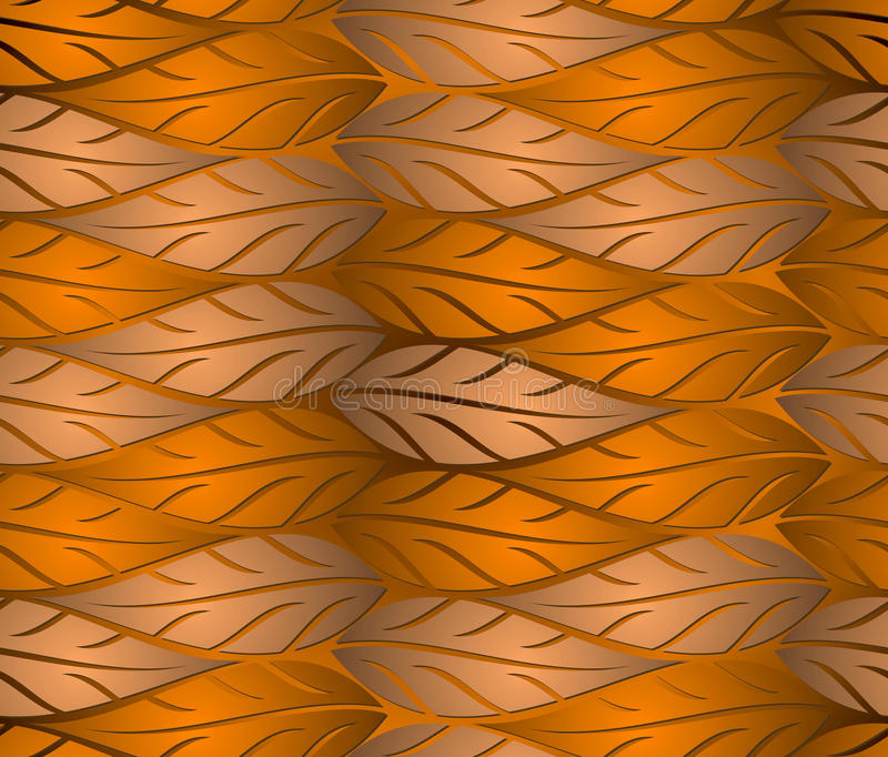 El cobre inconsútil sale del fondo stock de ilustración
