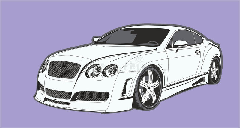 El coche conceptual fotos de archivo