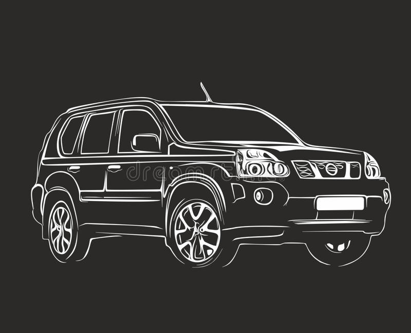 El coche conceptual fotografía de archivo