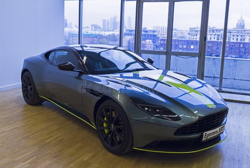 El coche de Aston Martin DB11 AMR Signature Edition hizo en 2018 fotografía de archivo libre de regalías