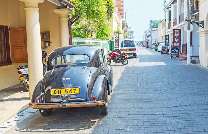 El coche de Morris Minor en Galle foto de archivo