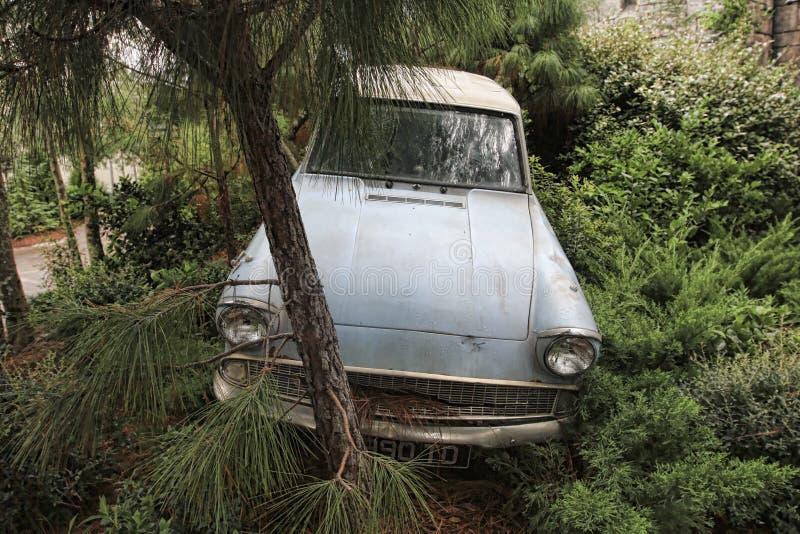 El coche de Weasley se estrelló foto de archivo libre de regalías