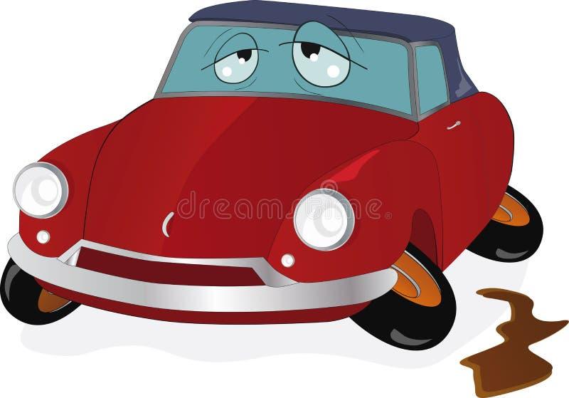 El coche del juguete stock de ilustración