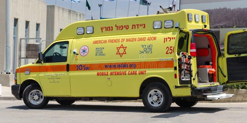 El coche intensivo de la ambulancia israelí, llamó a Magen David Adom fotografía de archivo libre de regalías