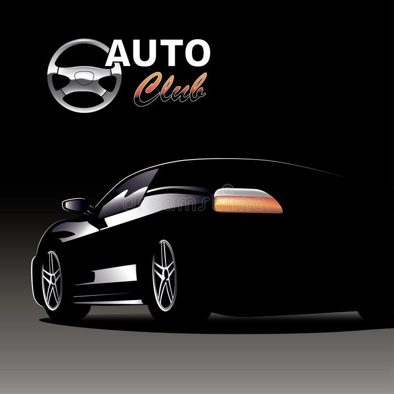 El coche negro imagenes de archivo