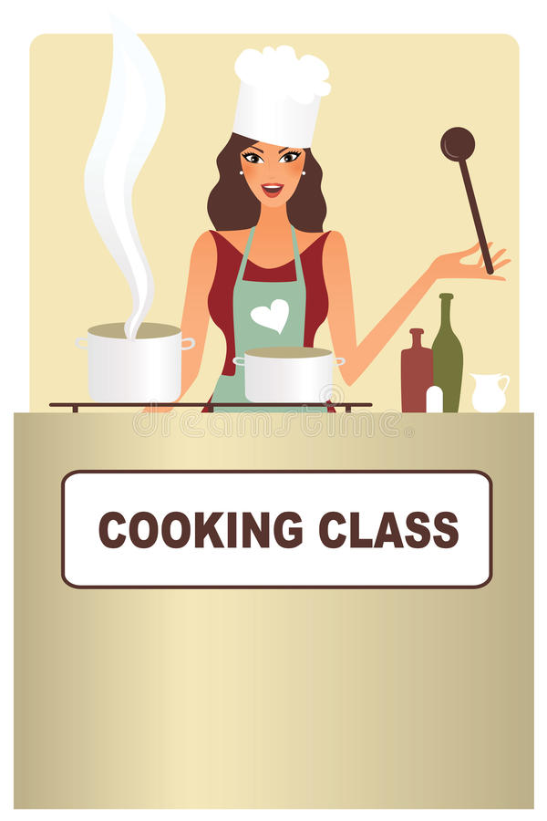 El cocinar de la mujer ilustración del vector