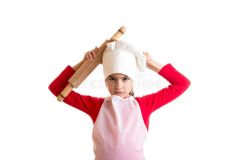 El cocinar de la niña imágenes de archivo libres de regalías