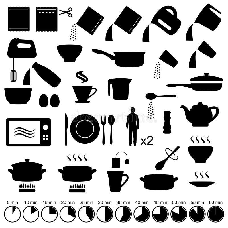 El cocinar de los iconos libre illustration