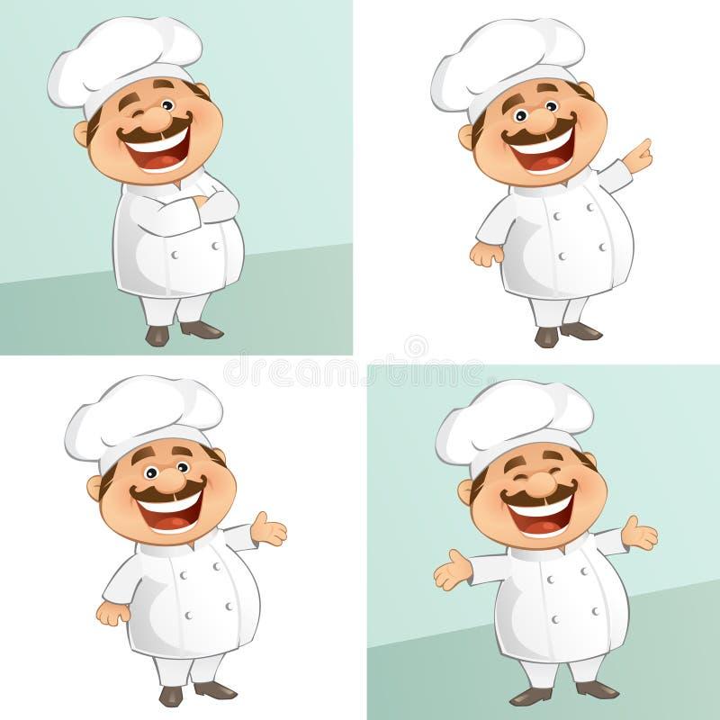 El cocinero stock de ilustración