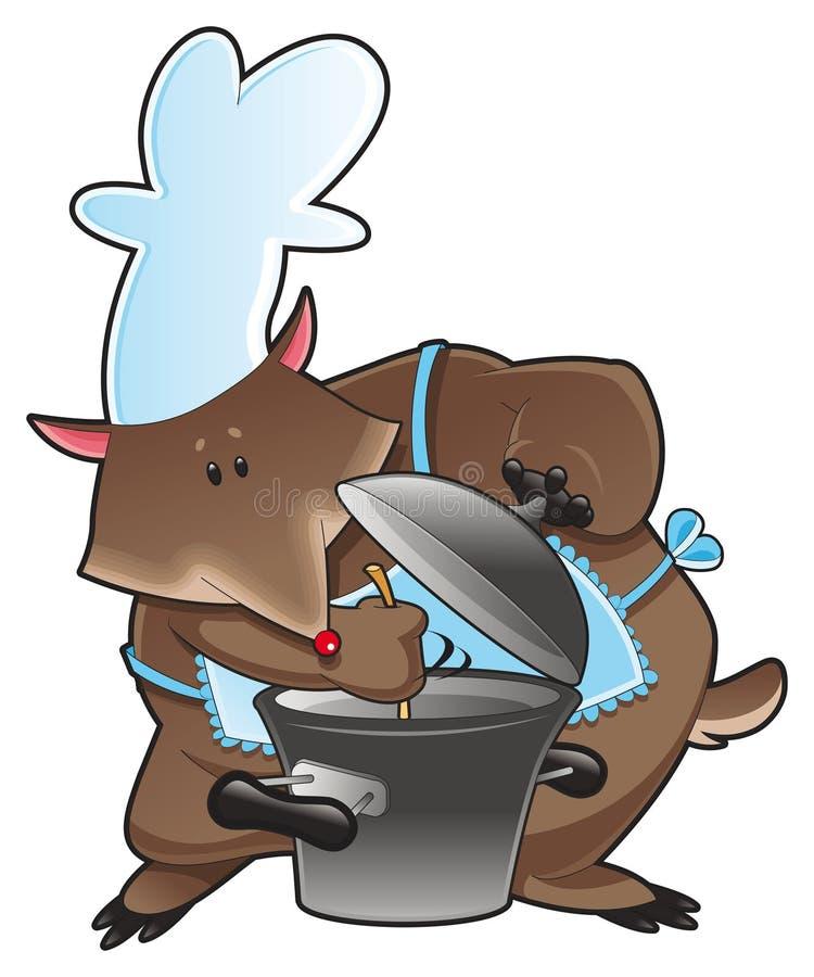 El cocinero del oso stock de ilustración