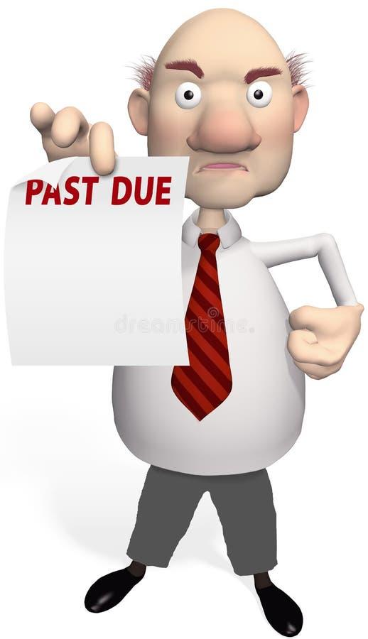 El colector de cuenta del acreedor lleva a cabo la declaración de la deuda libre illustration