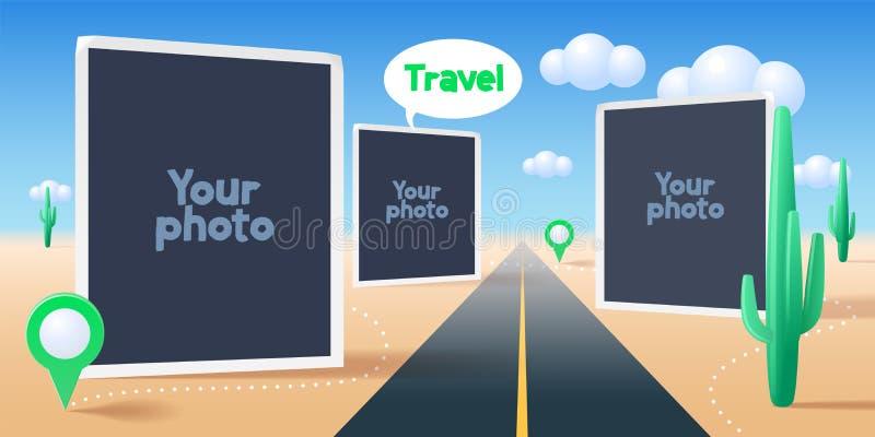 El collage de la foto enmarca el ejemplo del vector ilustración del vector