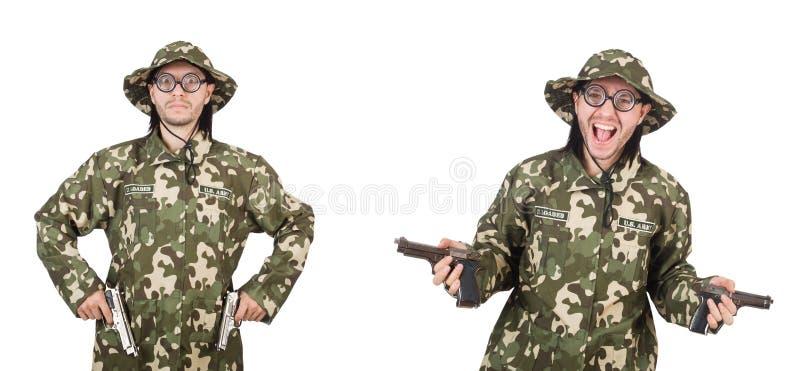 El collage de las fotos divertidas del soldado foto de archivo libre de regalías
