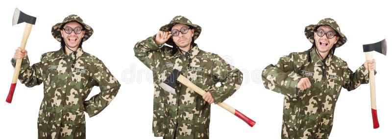 El collage de las fotos divertidas del soldado imagen de archivo libre de regalías
