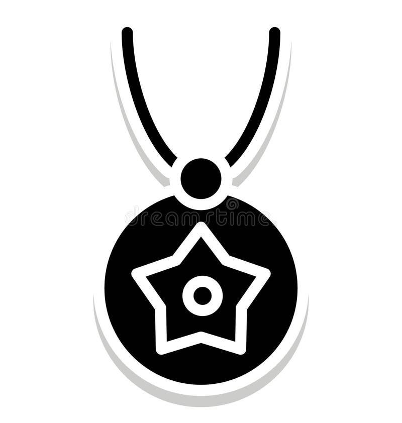 El collar, el icono aislado forma que puede ser modificado o corregir fácilmente en cualquier collar del estilo, forma del vector ilustración del vector