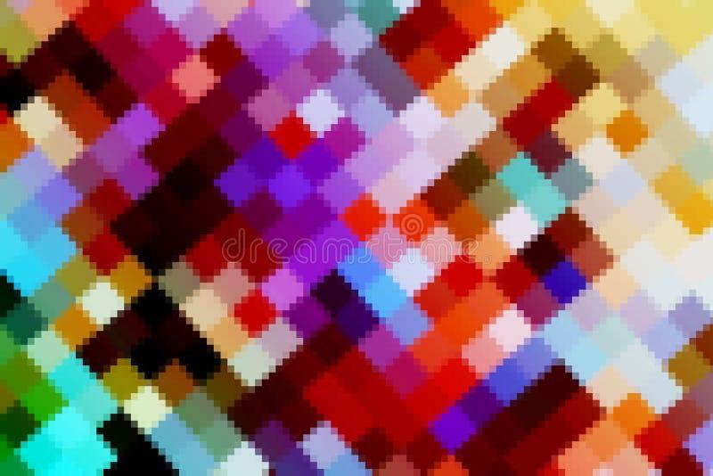el color abstracto colorido cristaliza tono ligero duro cuadrado grande y pequeño del arte del arco iris stock de ilustración