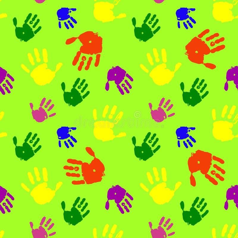 El color da el fondo de las palmas ilustración del vector