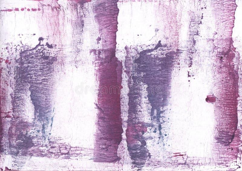 El color de malva púrpura manchó la imagen de la acuarela imágenes de archivo libres de regalías