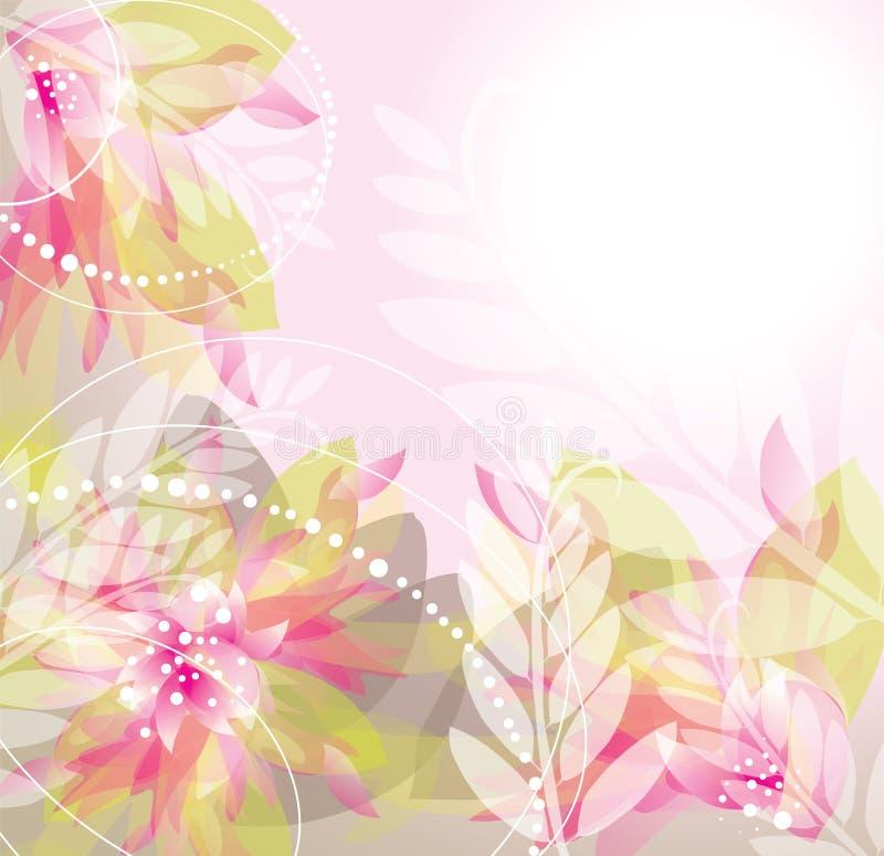 El color de rosa florece la ilustración del fondo libre illustration