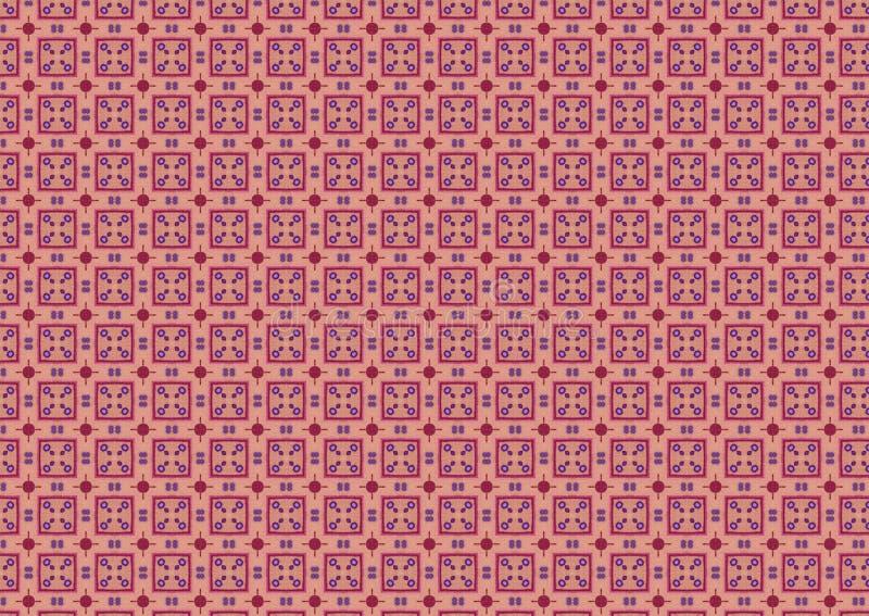 El color de rosa marcado con cuadros ajusta el modelo ilustración del vector