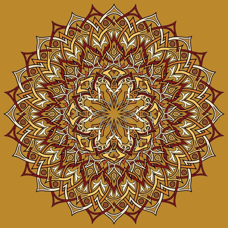 El color del Arabesque garabatea el ejemplo del vector del bosquejo stock de ilustración