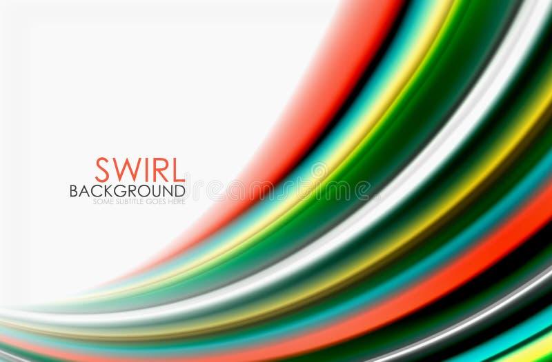 El color del arco iris agita, fondo abstracto borroso vector ilustración del vector