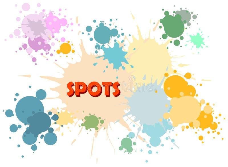 El color del vector mancha el fondo libre illustration