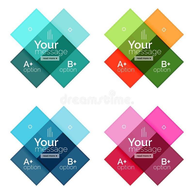 El color del vector raya plantillas del infographics stock de ilustración