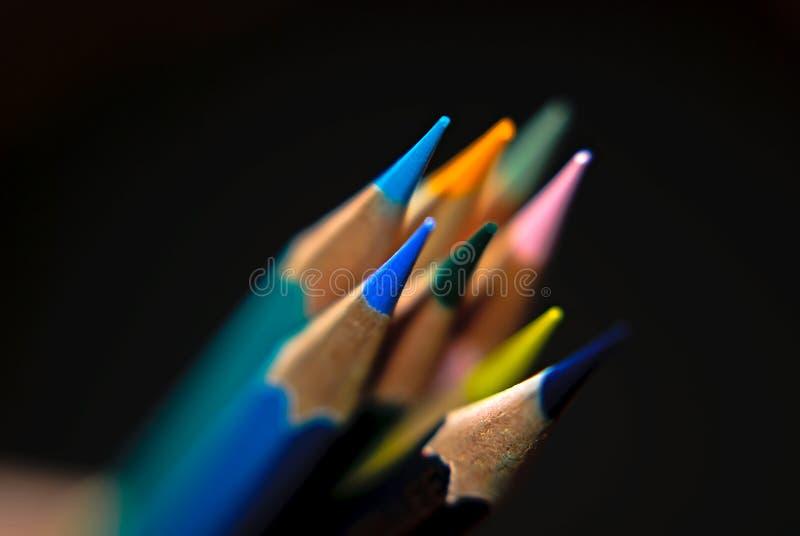 El color dibujó a lápiz al grupo fotos de archivo libres de regalías
