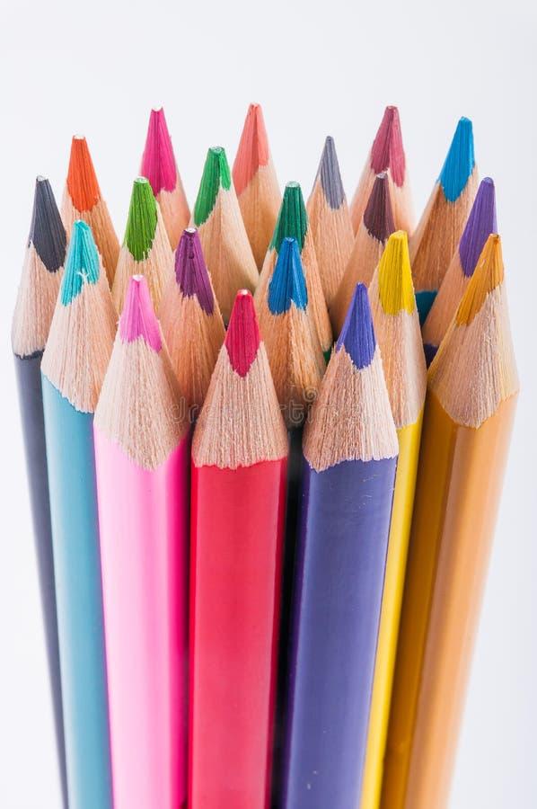 El color dibujó a lápiz el primer imagen de archivo libre de regalías