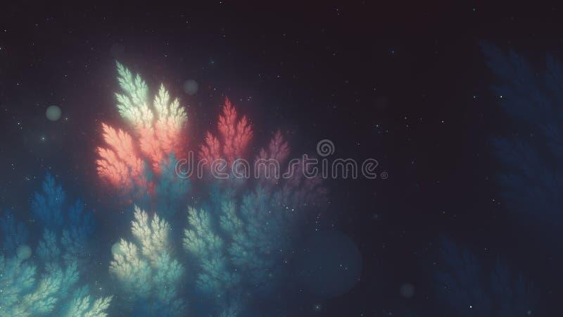 El color mágico colorido de la plantilla de la Navidad calificó, gener del ordenador ilustración del vector
